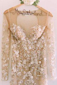 Couture Custom Wedding Dress Detailed Beading