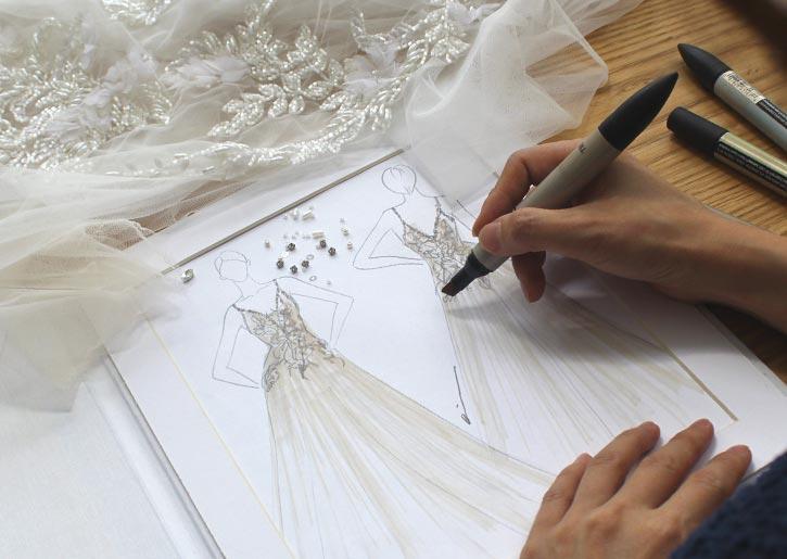 Angela Kim Couture Design Sketch